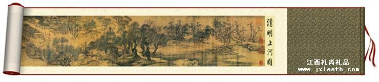 丝绸画--清明上河图