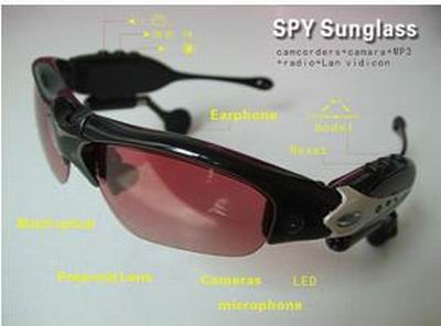 MP3摄像眼镜(五合一:拍照+摄像+mp3+蓝牙+网络摄像头)