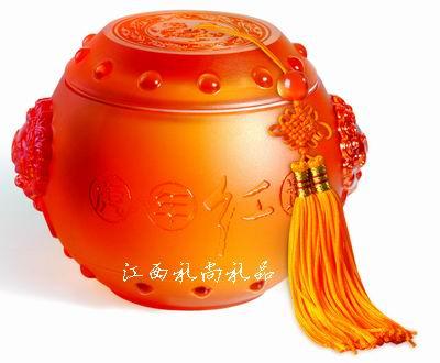 虎年红运(琉璃茶叶罐)