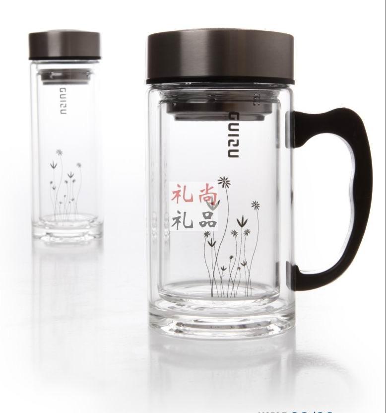 雅乐双层玻璃杯