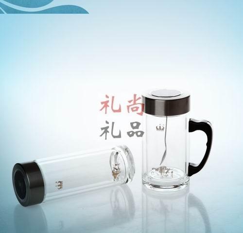 双层磁化玻璃杯