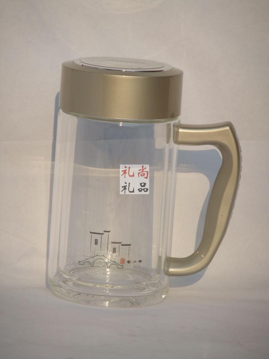 雅致双层玻璃杯(办公杯)