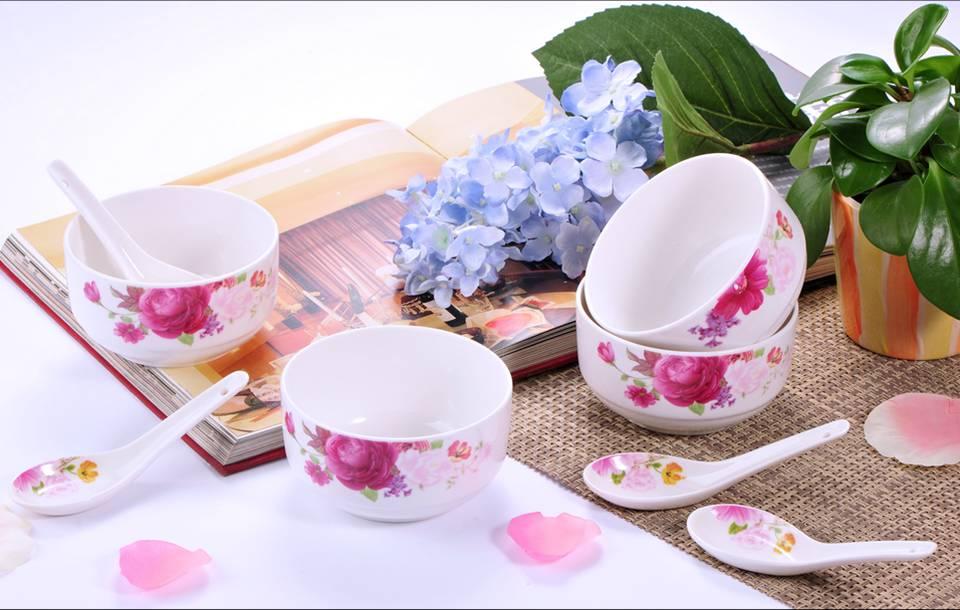 8头陶瓷餐具,厨房餐具,俏佳人